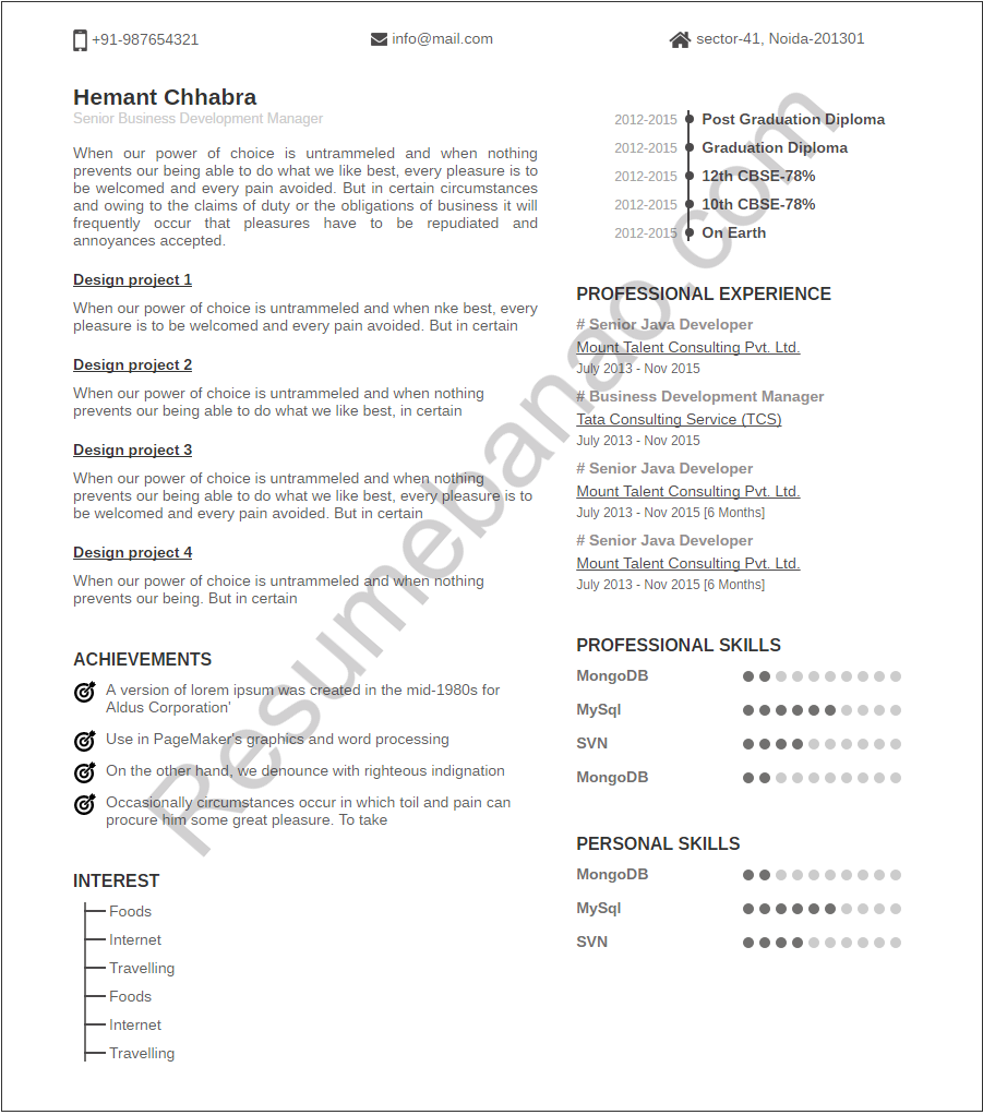 Resume Banao – Create Resume Online, Online Resume Maker In Delhi